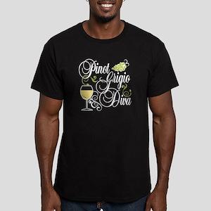 Pinot Grigio Diva Men's Fitted T-Shirt (dark)
