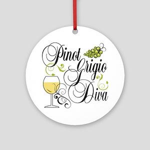 Pinot Grigio Diva Ornament (Round)