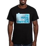 I'm Huge on Twitter. Men's Fitted T-Shirt (dark)
