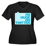I'm Huge on Twitter. Women's Plus Size V-Neck Dark