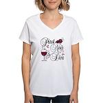 Pinot Noir Diva Women's V-Neck T-Shirt