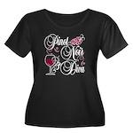 Pinot Noir Diva Women's Plus Size Scoop Neck Dark