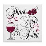 Pinot Noir Diva Tile Coaster