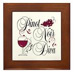 Pinot Noir Diva Framed Tile