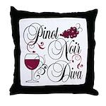 Pinot Noir Diva Throw Pillow