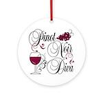 Pinot Noir Diva Ornament (Round)
