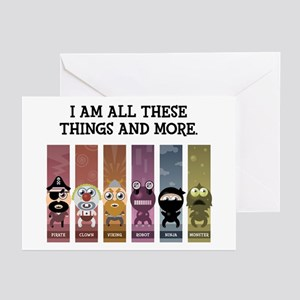 I Am All These Things And More Greeting Cards (Pk