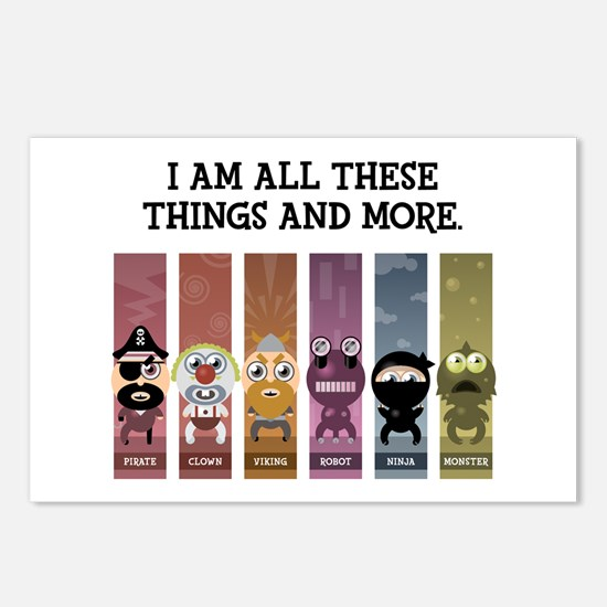 I Am All These Things And More Postcards (Package