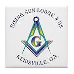 Rising Sun Lodge Tile Coaster