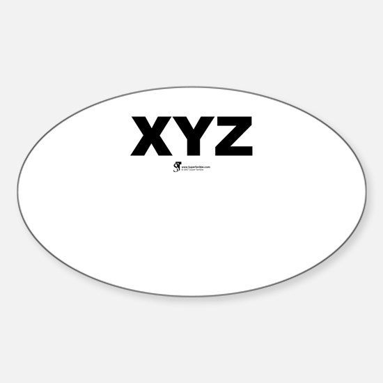 XYZ - Oval Decal
