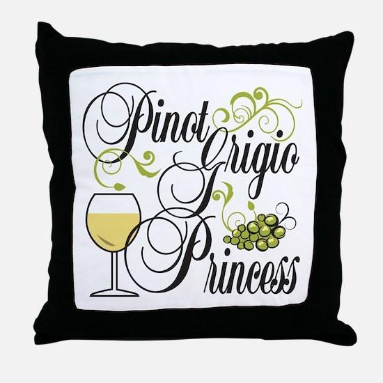 Pinot Grigio Princess Throw Pillow