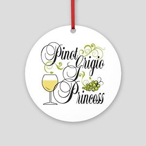 Pinot Grigio Princess Ornament (Round)