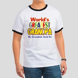 World's Greatest Grandpa Ringer T
