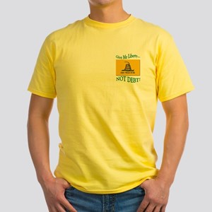 912 Project Liberty Not Debt Yellow T-Shirt