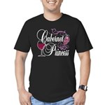 Cabernet Wine Princess Men's Fitted T-Shirt (dark)