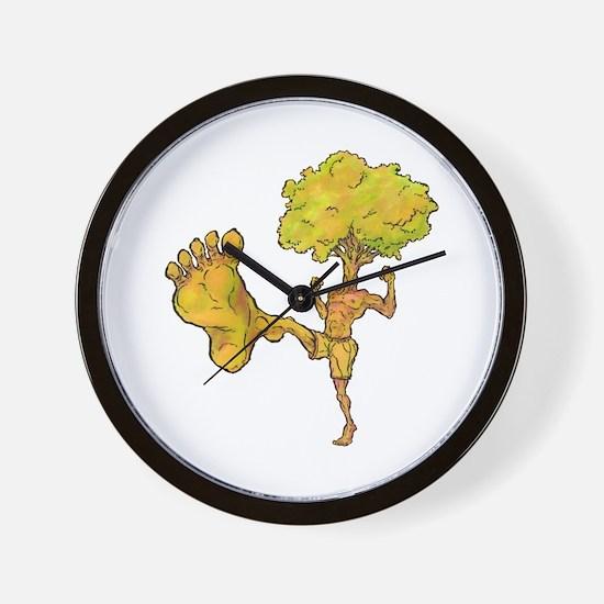Kung Fu Tree Wall Clock