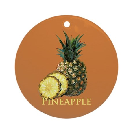 Tropical Pineapple Ornament (Round)