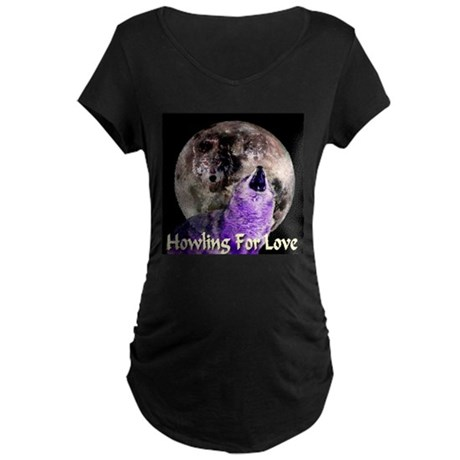 Howling For Love Maternity Dark T-Shirt