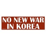 No New War in Korea bumper sticker