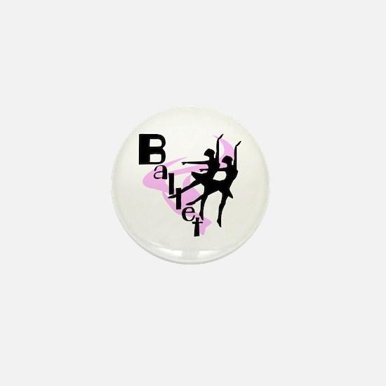 Silhouette Ballet Mini Button