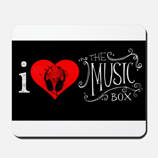 i love the music box Mousepad