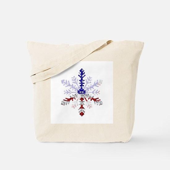 Peace Sign Snowflake Tote Bag