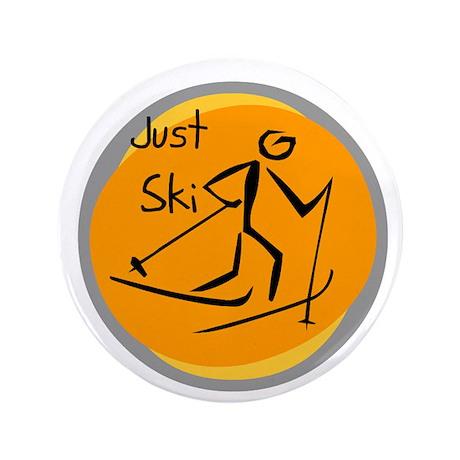 "Just Ski 3.5"" Button"
