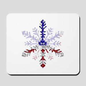 Peace Sign Snowflake Mousepad