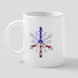 Peace Sign Snowflake Mug