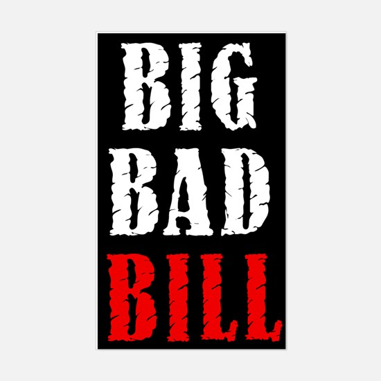 Big Bad Bill Rectangle Decal