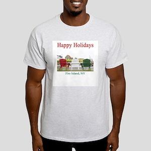 Fire Island Holiday Ash Grey T-Shirt