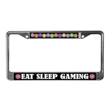 Eat Sleep Gaming License Plate Frame