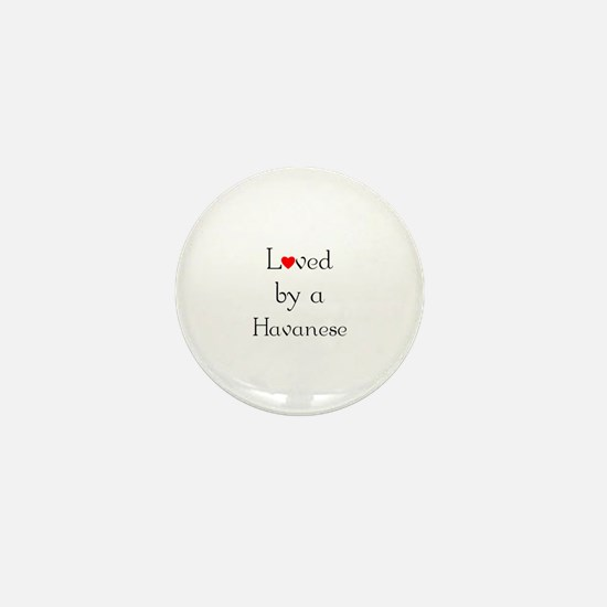 Loved by a Havanese Mini Button