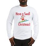 Santa Surfing Long Sleeve T-Shirt