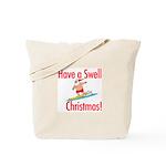 Santa Surfing Tote Bag