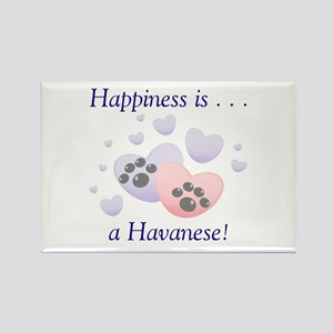 Happiness is...a Havanese Rectangle Magnet
