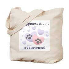 Happiness is...a Havanese Tote Bag