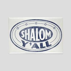 Shalom Y'all Retro - Distress Rectangle Magnet