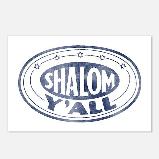 Shalom Y'all Retro - Distress Postcards (Package o