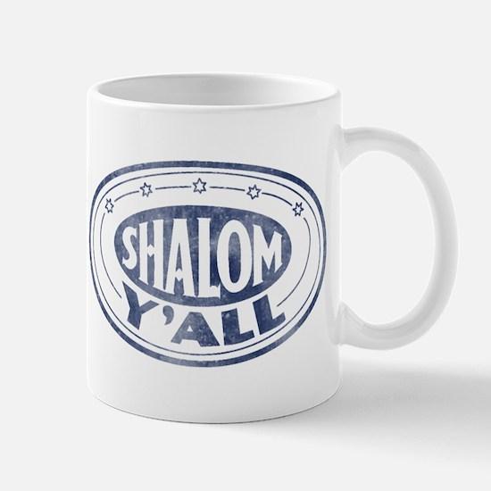 Shalom Y'all Retro - Distress Mug