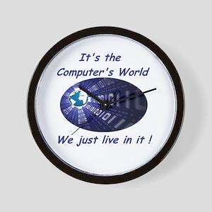It's a Computer World Wall Clock
