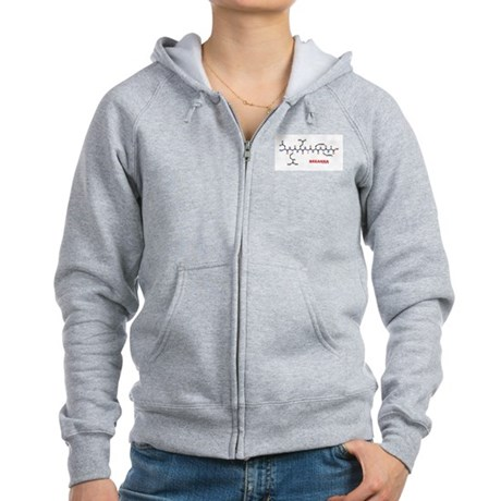 Breanna name molecule Women's Zip Hoodie