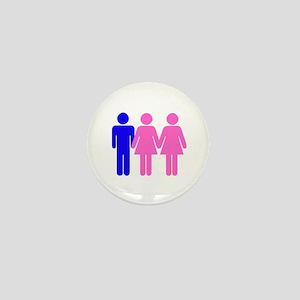 Threesome (FFM) Mini Button