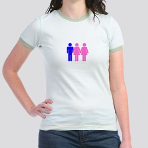 Threesome (FFM) Jr. Ringer T-Shirt