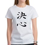 Determination - Kanji Symbol Women's T-Shirt
