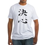 Determination - Kanji Symbol Fitted T-Shirt