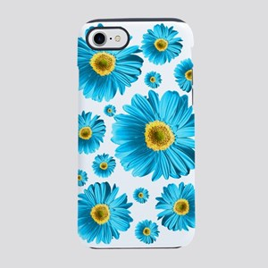 Blue Pop Daisy iPhone 7 Tough Case