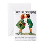 card_child_kiss Greeting Cards