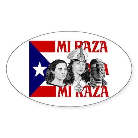 NEW!! MI RAZA (FOR WOMEN) Oval Sticker (10 pk)