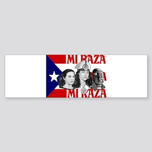NEW!! MI RAZA (FOR WOMEN) Bumper Sticker